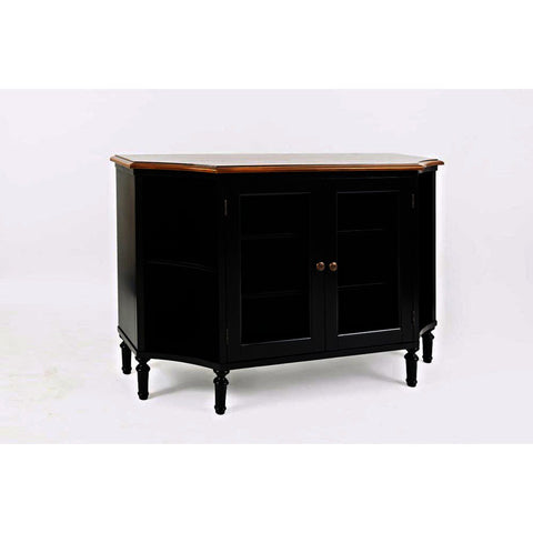Jofran Castle Hill Display Server in Antique Black & Oak