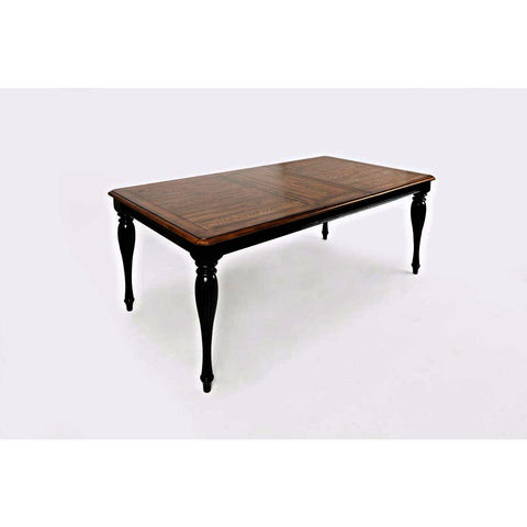 Jofran Castle Hill Rectangle Dining Table in Antique Black & Oak