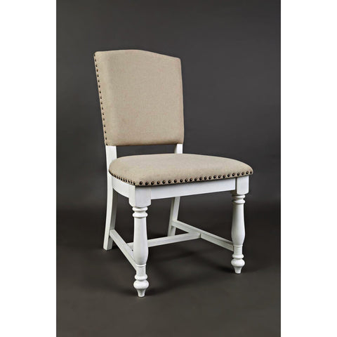 Jofran Castle Hill Upholstered Dining Chair in Linen