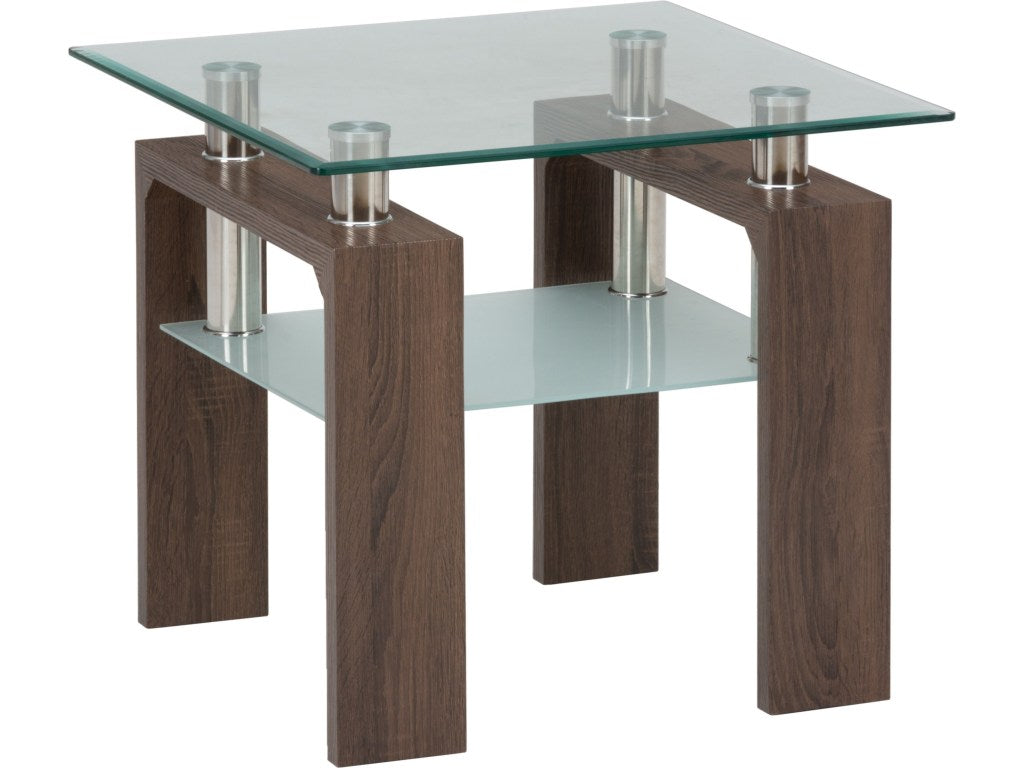 Jofran Compass 3 Piece Square Coffee Table Set W Glass Top