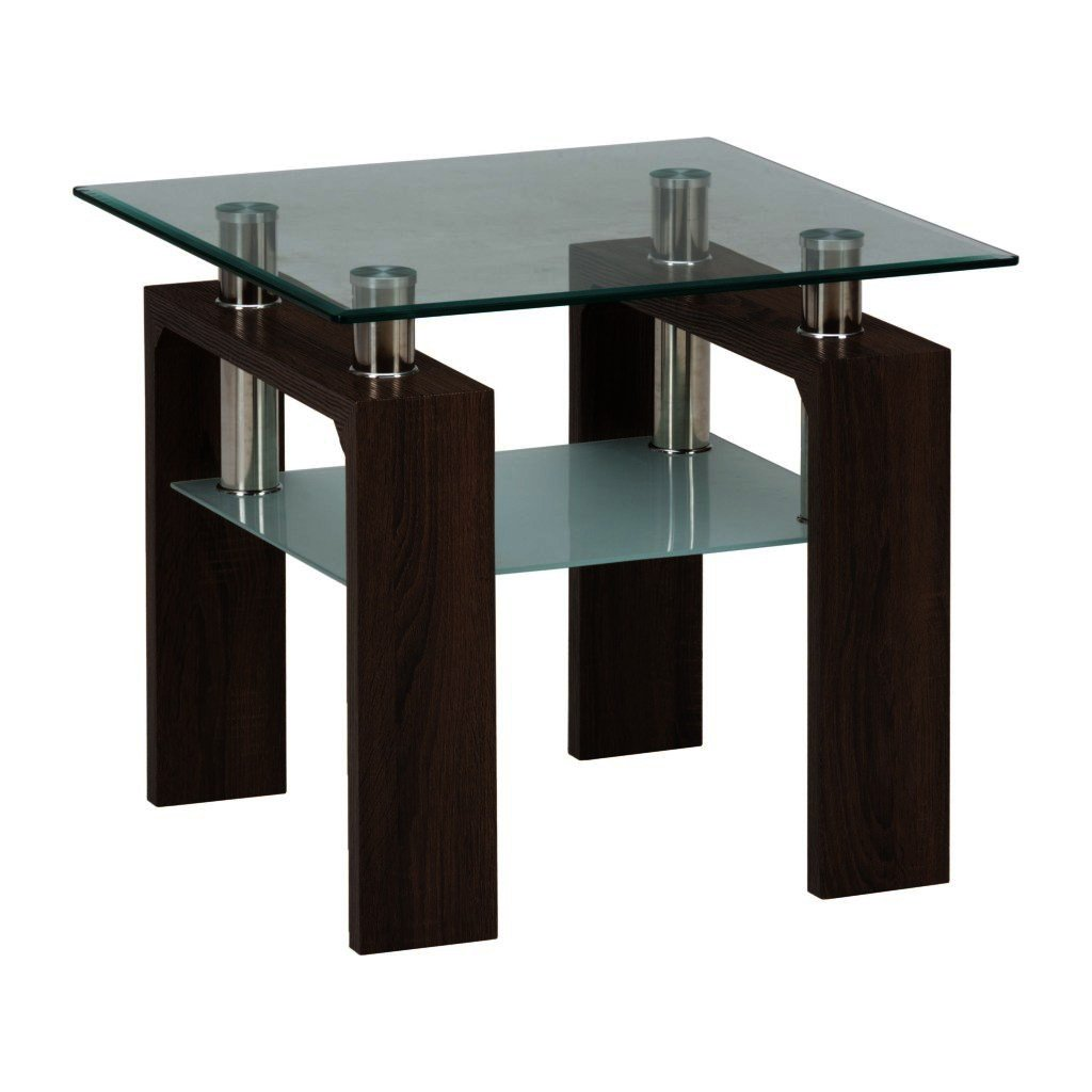 Jofran Compass End Table W Glass Top Beyond Stores