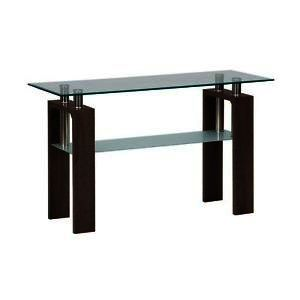 Jofran Compass Sofa Table w/ Glass Top
