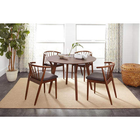 Jofran Copenhagen 5 Piece Round Dining Room Set