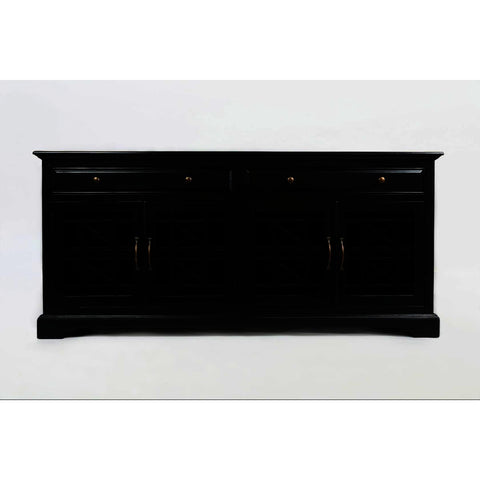 Jofran Craftsman 70 Inch Media Unit Complete in Antique Black
