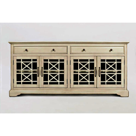 Jofran Craftsman 70 Inch Media Unit Complete in Antique Cream