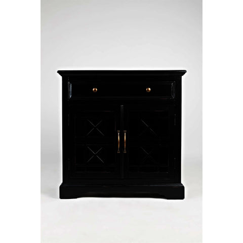 Jofran Craftsman Accent Cabinet in Antique Black