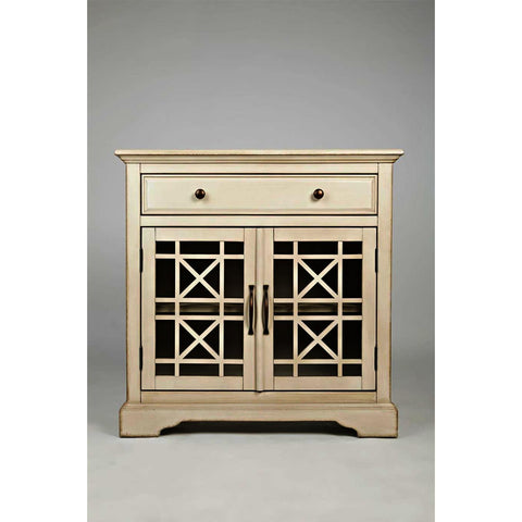 Jofran Craftsman Accent Cabinet in Antique Cream
