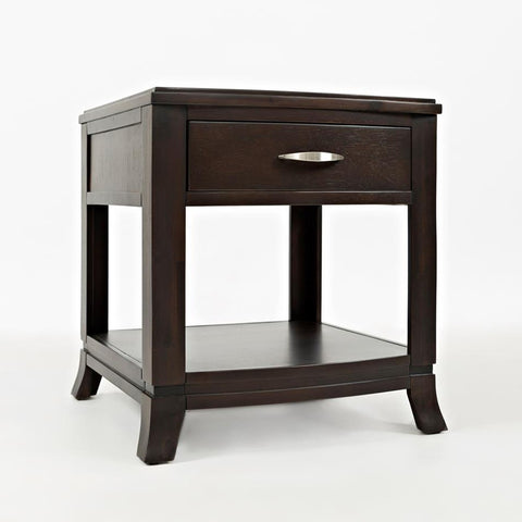 Jofran Downtown End Table in Smooth & Dark Merlot