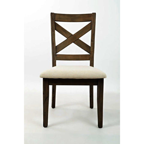 Jofran Hampton Road X-Back Dining Chair w/Upholstered Seat