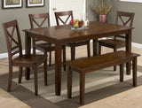 Jofran Honey Finish Rectangle Fix Top Dining Table