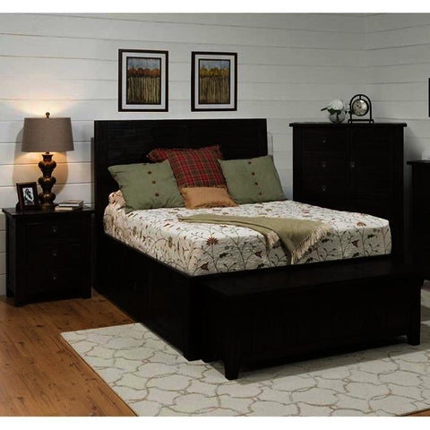 Jofran Kona Grove 4 Piece Storage Platform Bedroom Set