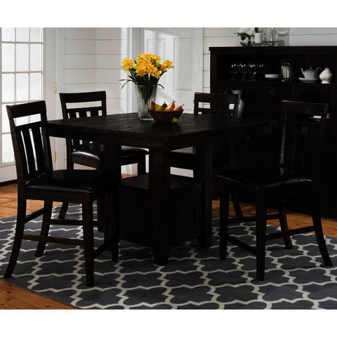 Jofran Kona Grove 5 Piece Counter Height Table Set