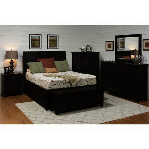 Jofran Kona Grove 5 Piece Storage Platform Bedroom Set