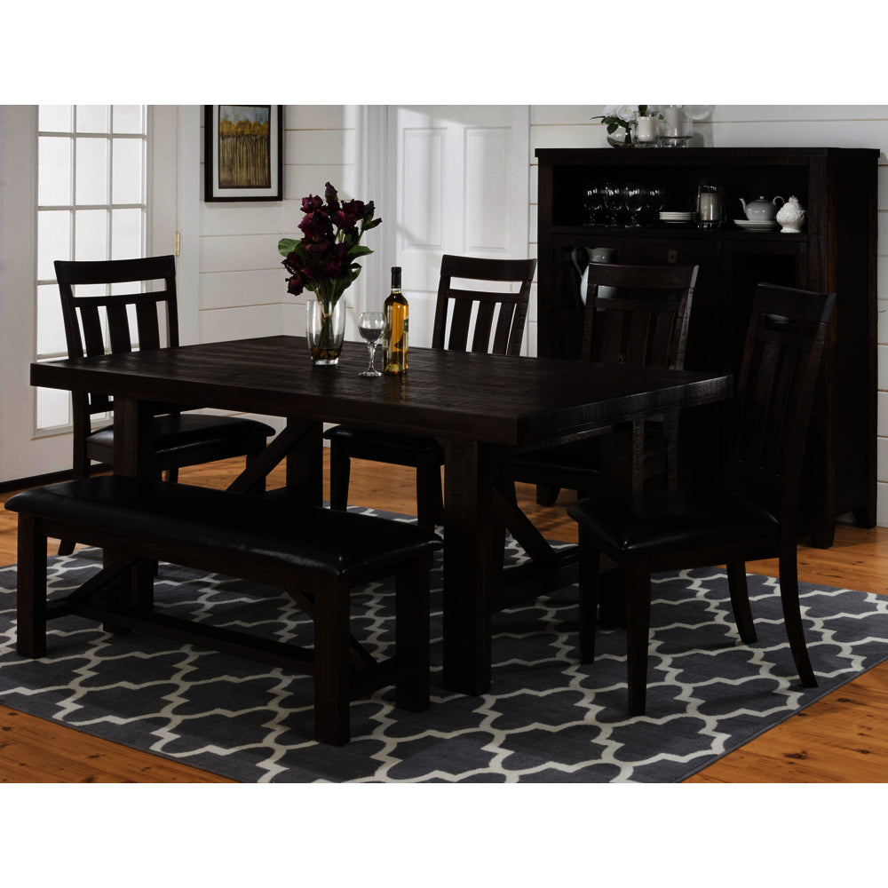 Superb Jofran Kona Grove 6 Piece Dining Room Set Gmtry Best Dining Table And Chair Ideas Images Gmtryco