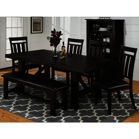 Jofran Kona Grove 7 Piece Dining Room Set w/Wine Pantry