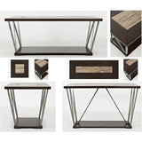 Jofran Leonardo 3 Piece Coffee Table Set in Birch & Tile
