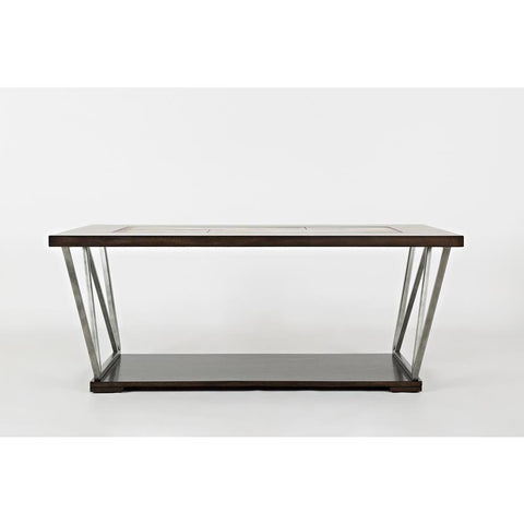 Jofran Leonardo Cocktail Table in Birch & Tile