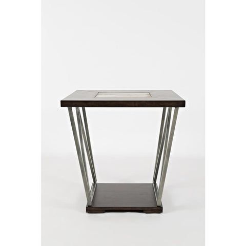Jofran Leonardo End Table in Birch & Tile