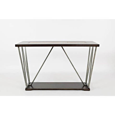 Jofran Leonardo Sofa Table in Birch & Tile