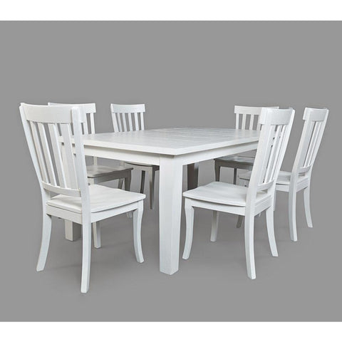 Jofran Madaket 7 Piece Rectangle Dining Room Set in White