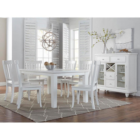 Jofran Madaket 8 Piece Rectangle Dining Room Set in White