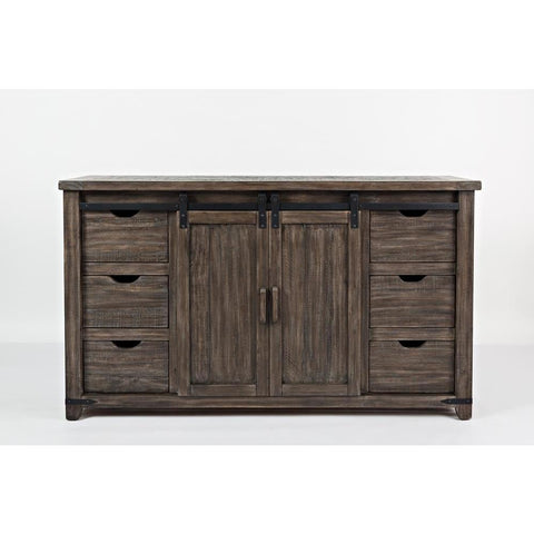 Jofran Madison County 60 Inch Door Server in Barnwood