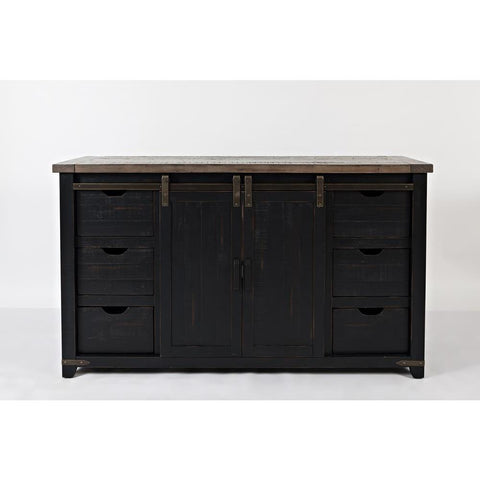 Jofran Madison County 60 Inch Door Server in Vintage Black