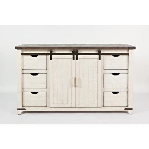 Jofran Madison County 60 Inch Door Server in Vintage White