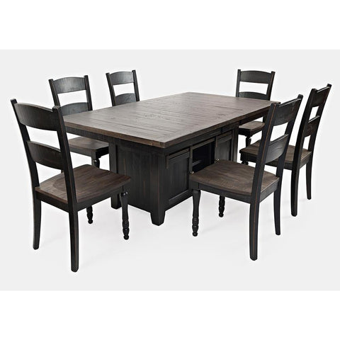 Jofran Madison County 7 Piece Dining Room Set in Vintage Black