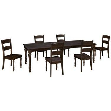 Jofran Madison County 7 Piece Rectangle Extension Dining Room Set in  Barnwood