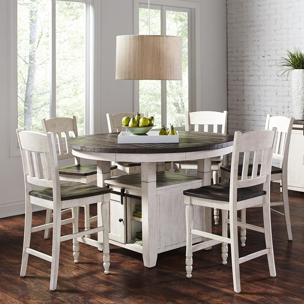 Jofran Madison County 7 Piece Round Counter Height Table
