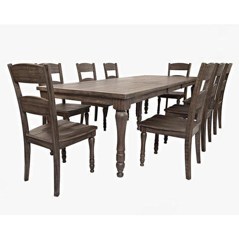 Jofran Madison County 9 Piece Rectangle Extension Dining Room Set in Barnwood