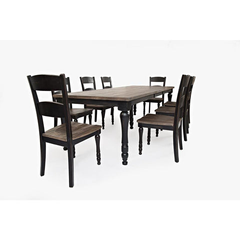 Jofran Madison County 9 Piece Rectangle Extension Dining Room Set in Vintage Black