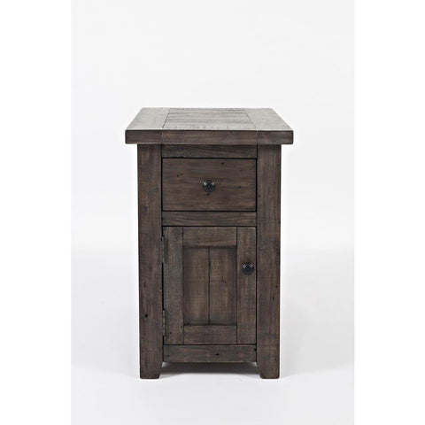Jofran Madison County Chairside Table in Barnwood
