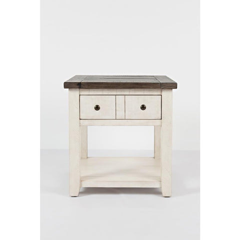 Jofran Madison County End Table in Vintage White