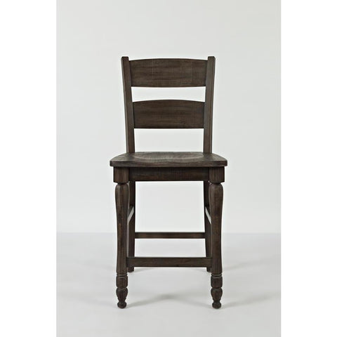 Jofran Madison County Ladderback Counter Stool in Barnwood