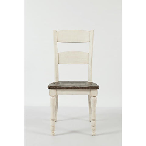 Jofran Madison County Ladderback Dining Chair in Vintage White
