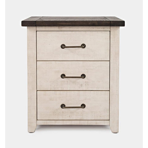 Jofran Madison County Power Nightstand in Vintage White