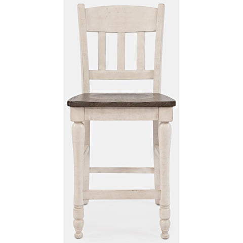 Jofran Madison County Slatback Counter Stool in Vintage White