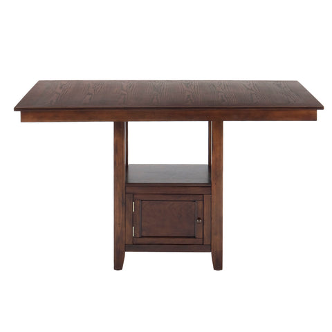 Jofran Olsen Rectangle Counter Height Table w/ Storage Base in Oak