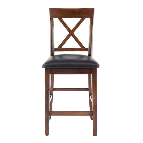 Jofran Olsen X-Back Counter Stool w/ Faux Leather Seat