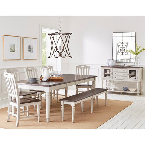 Jofran Orchard Park 9 Piece Rectangular Extension Dining Room Set w/Bench