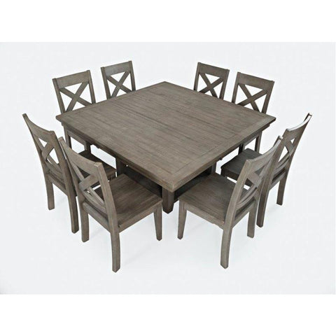 Jofran Outer Banks 9 Piece Hi/Low Square Storage Dining Table Set