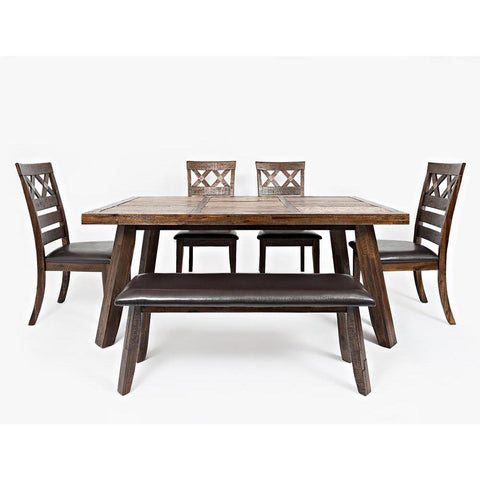 Jofran Painted Canyon 6 Piece Dining Room Set