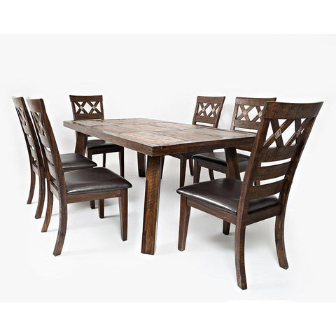 Jofran Painted Canyon 7 Piece Dining Room Set
