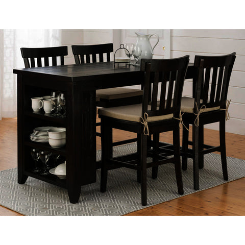Jofran Prospect Creek 5 Piece Counter Height Storage Table Set