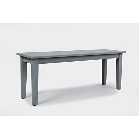 Jofran Simplicity 48 Inch Bench in Dove
