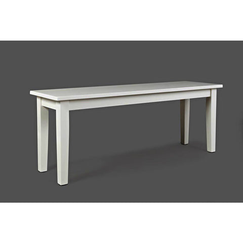 Jofran Simplicity 48 Inch Bench in Paperwhite