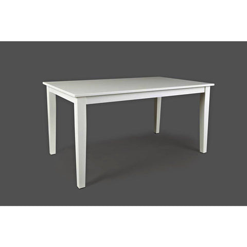 Jofran Simplicity Rectangle Dining Table in Paperwhite