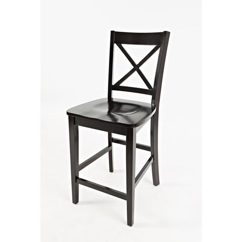 Jofran Simplicity X-Back Counter Stool in Espresso